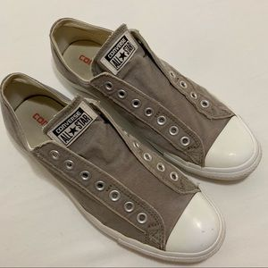 Converse All Star Gray Laceless Sneakers